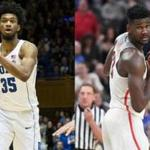 Marvin Bagley of Duke, left, and Deandre Ayton of Arizona will both get selected in high in the NBA draft after just one season of college basketball.